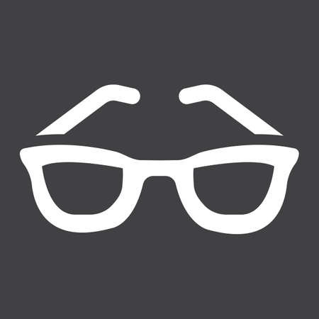 solid: Sunglasses solid icon, Travel and tourism, vector graphics, a filled pattern on a black background Illustration