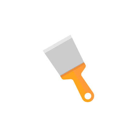 Spattle and Scraper flat icon, build repair elements, construction tool, a colorful solid pattern on a white background, eps 10. Illustration