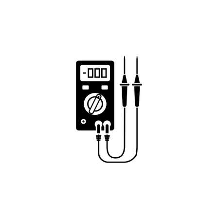 Electric tester solid icon, build repair elements, construction tool, a filled pattern on a white background, eps 10.