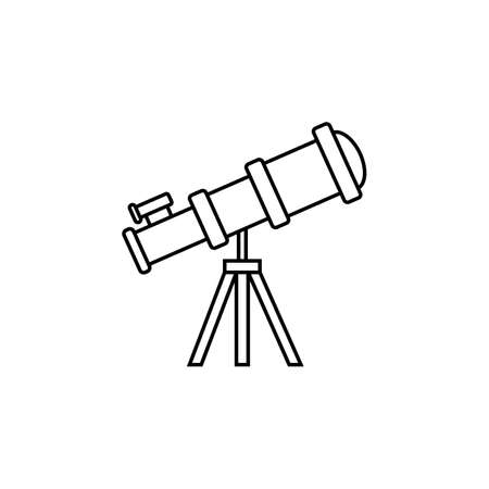 Telescope line icon, Education and astronomy element, spyglass and study stars vector graphics, a linear pattern on a white background, eps 10.