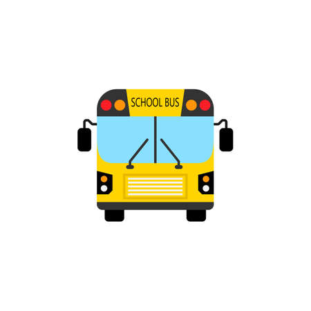 truck driver: School bus flat icon, student transport, high school service vector graphics, a colorful solid pattern on a white background, eps 10.
