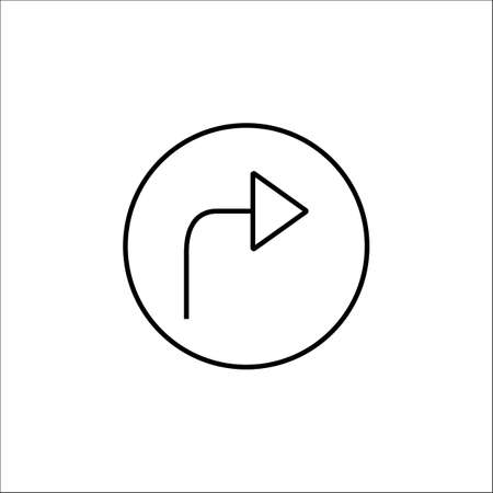 clearing: Arrow forward line icon, mobile sign and Next pictogram, vector graphics, a linear pattern on a white background, eps 10. Illustration