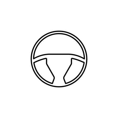 Línea icono, elemento del coche y navegación, gráficos de vector, un modelo linear en un fondo blanco, EPS 10 del volante.