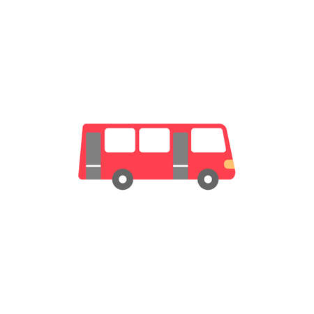 schoolbus: Bus solid icon, navigation and transport sign, vector graphics, a colorful flat pattern on a white background, eps 10.