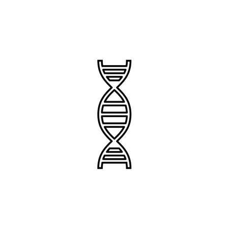 DNA line icon,  Element of medical and genetic sign , vector graphics, a linear pattern on a white background, eps 10. Illustration