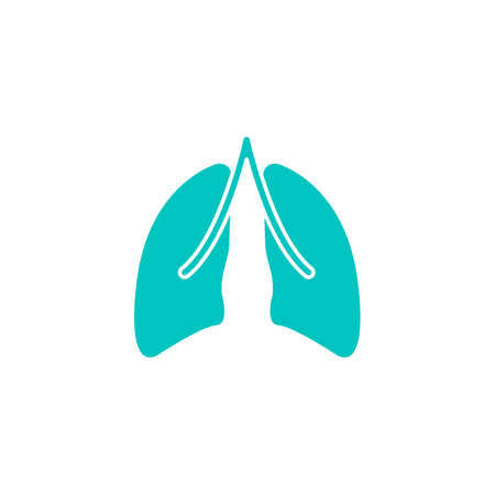 Lungs solid icon, organ and part of body, vector graphics, a colorful linear pattern on a white background, eps 10. Illustration