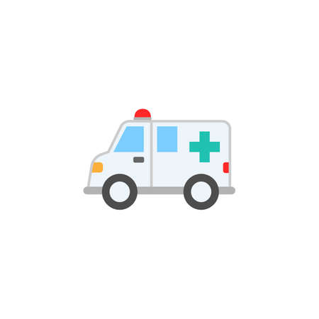 Ambulance car solid icon,  healtcare sign, vector graphics, a colorful linear pattern on a white background, eps 10.