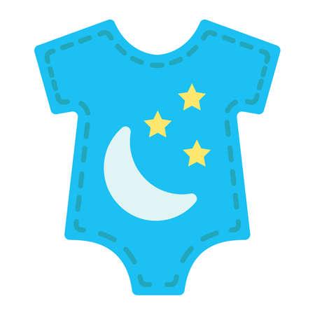 Icône plate pour bébés, vêtements pour bébés et enfant, graphiques vectoriels, un motif solide coloré sur fond blanc, eps 10. Banque d'images - 78447141