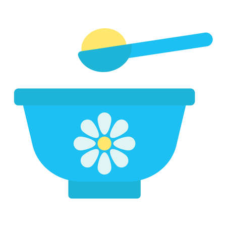 Baby bowl line icon, baby food and nutrition, vector graphics, a linear pattern on a white background, eps 10.