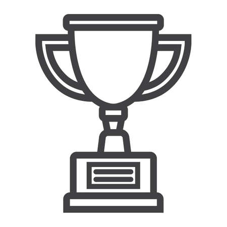 Trophy Cup line icon, winner and award, vector graphics, a linear pattern on a white background, eps 10.
