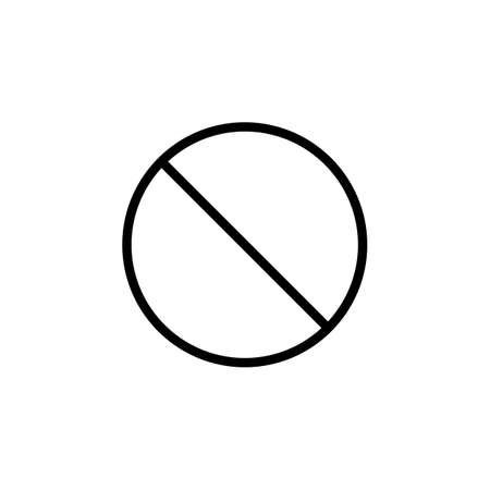 refuse: Do not entry line icon, prohibition sign, forbidden not allowed, vector graphics, a linear pattern on a white background, eps 10. Illustration