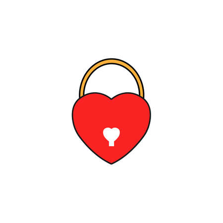 Lock heart shaped solid icon, Love sign Valentines day, love concept, vector graphics, a colorful linear pattern on a white background, eps 10.