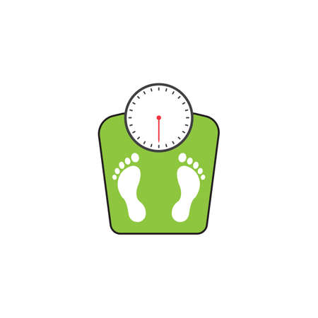 floor scales solid icon, human footprints, vector graphics, a colorful linear pattern on a white background, eps 10. Illustration