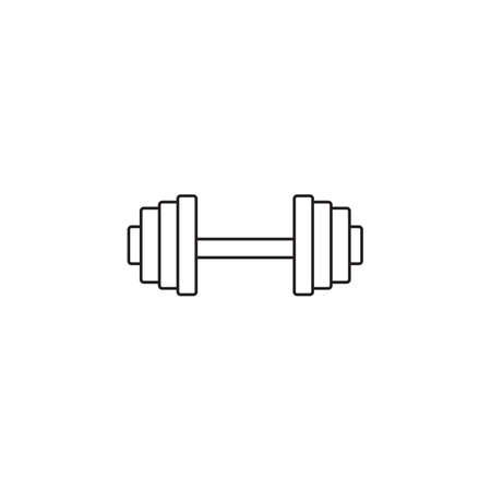 Dumbbel line icon, gym tool, vector graphics, a linear pattern on a white background, eps 10.