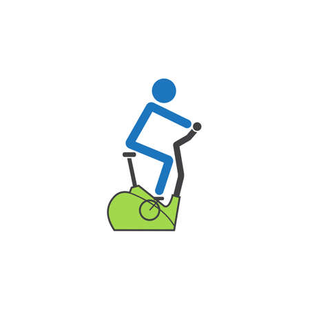 Stationary bicycle solid icon, Exercise Bike and fitness sport, vector graphics, a colorful linear pattern on a white background, eps 10. 向量圖像