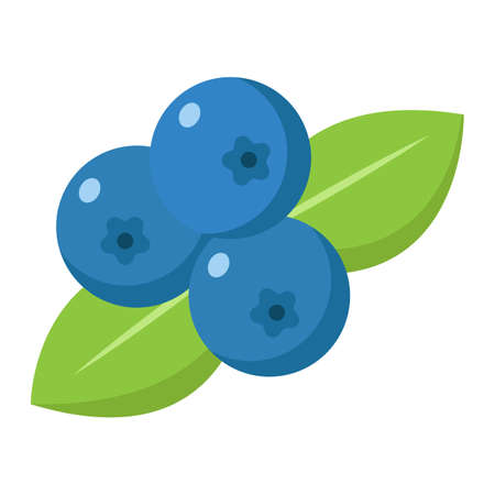 Blueberry flat icon, fruit and diet, vector graphics, a colorful solid pattern on a white background, eps 10.