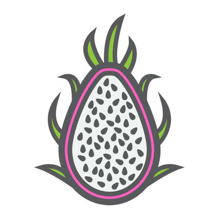 Pitaya line icon, dragon fruit and tropical, vector graphics, a colorful linear pattern on a white background, eps 10.