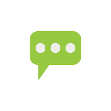 Message and speech bubbles flat icon, Modern sign for mobile interface, vector graphics, a colorful filled pattern on a white background, eps 10.