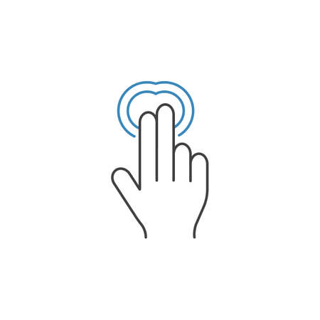 2 Finger Double tap line icon, touch and hand gestures, vector graphics, a color linear pattern on a white background, eps 10.
