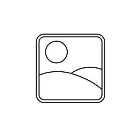 os: Photo Gallery and Picture line icon, Modern sign for mobile interface, vector graphics, a linear pattern on a white background, eps 10.