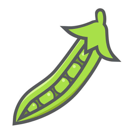 Peas colorful line icon, vegetable and diet, vector graphics, a filled pattern on a white background, eps 10.