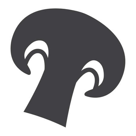 twine: Champignon solid icon, vegetable and mushroom, vector graphics, a glyph pattern on a white background, eps 10.