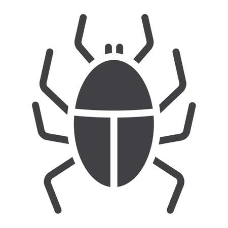 Virus solid icon, infection and security, vector graphics, a glyph pattern on a white background.