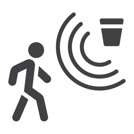 Motion detector solid icon, security and guard, vector graphics, a glyph pattern on a white background Illustration