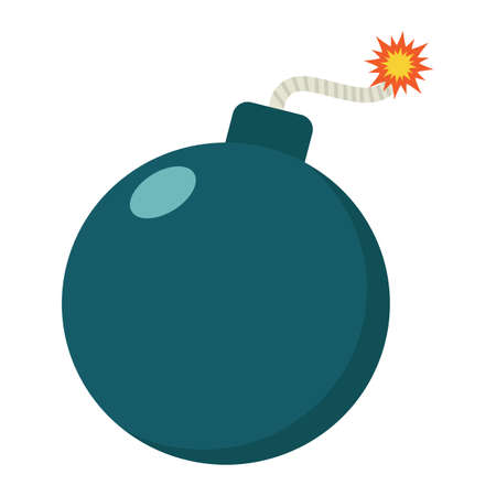 menace: Bomb flat icon, dynamite and danger, vector graphics, a colorful solid pattern on a white background, eps 10.