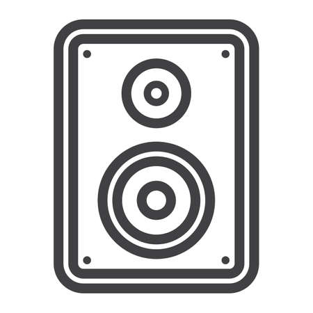 Audio Monitor line icon, sound and speaker, vector graphics, a linear pattern on a white background, eps 10. Illustration