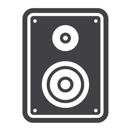 sound box: Audio Monitor solid icon, sound and speaker, vector graphics, a glyph pattern on a white background, eps 10. Illustration