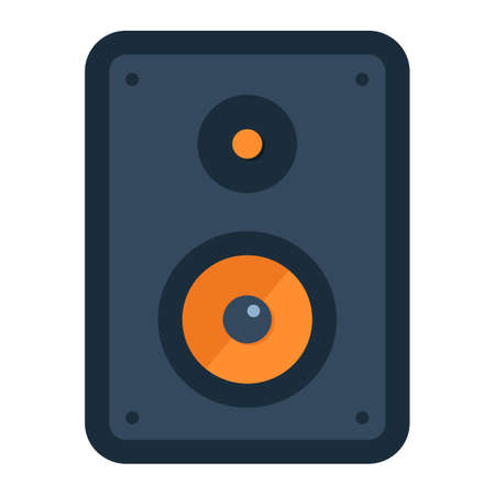 soundwave: Audio Monitor flat icon, sound and speaker, vector graphics, a colorful solid pattern on a white background, eps 10.