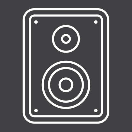 Audio Monitor line icon, sound and speaker, vector graphics, a linear pattern on a black background, eps 10. Illustration