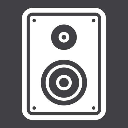 Audio Monitor solid icon, sound and speaker, vector graphics, a glyph pattern on a black background, eps 10.