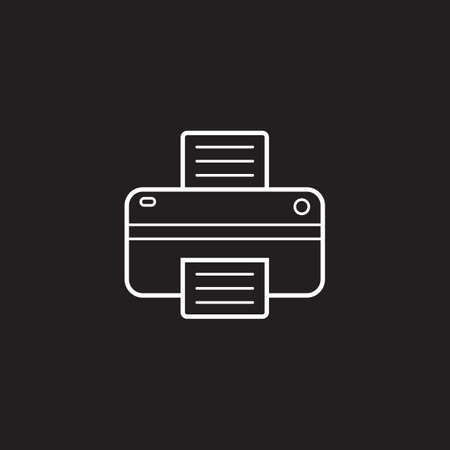 printout: Printer line icon, outline vector logo