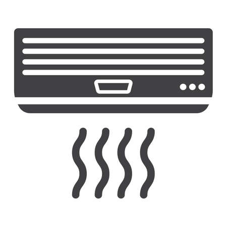 expel: Air conditioner solid icon, electric and appliance, a glyph pattern Illustration