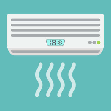 expel: Air conditioner flat icon, electric and appliance, a colorful solid pattern