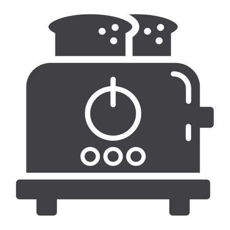 prepare: Toaster solid icon, kitchen and appliance, vector graphics, a glyph pattern on a white background, eps 10.