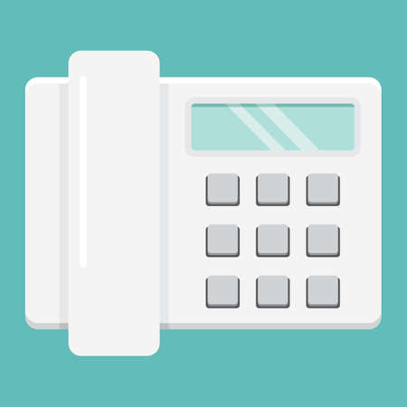 old cell phone: Home phone flat icon, household and appliance, a colorful solid pattern