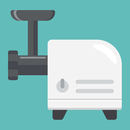meat  grinder: Meat grinder flat icon, household and appliance, a colorful solid pattern