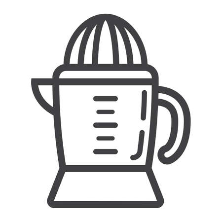 Han juicer line icon, household and appliance, vector graphics, a linear pattern on a white background