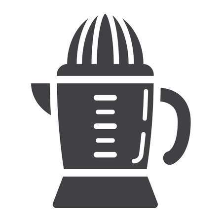 Han juicer solid icon, household and appliance, vector graphics, a glyph pattern on a white background Illustration