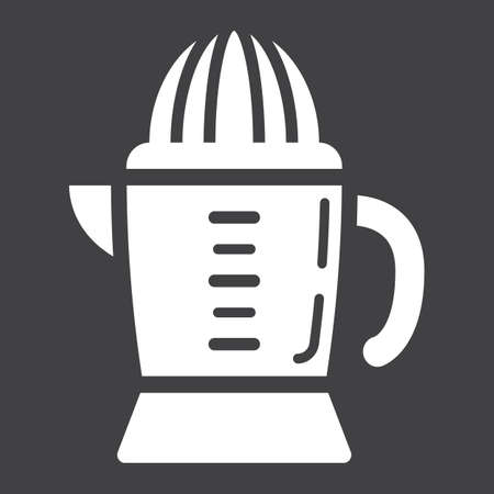 Han juicer solid icon, household and appliance, vector graphics, a glyph pattern on a black background, eps 10.