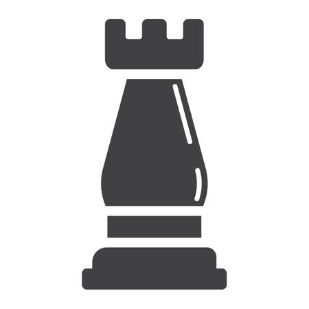 piece: Strategic plan solid icon, business and rook chess, vector graphics, a glyph pattern on a white background, eps 10. Illustration