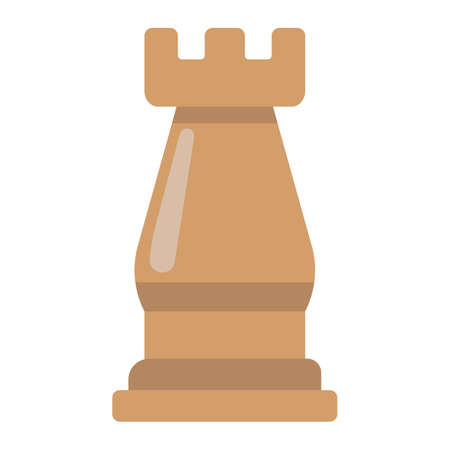 tactics: Strategic plan flat icon, business and rook chess, vector graphics, a colorful solid pattern on a white background, eps 10.