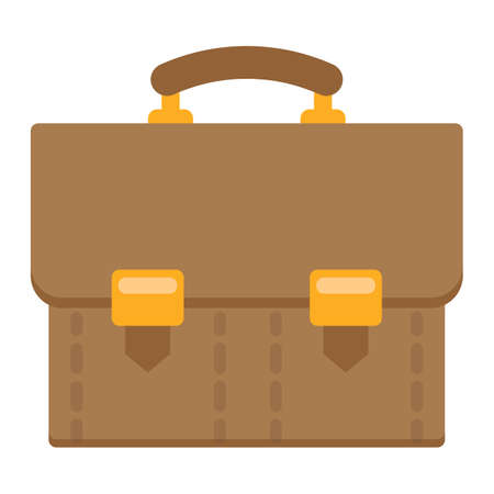 Briefcase flat icon, business and portfolio, vector graphics, a colorful solid pattern on a white background, eps 10.