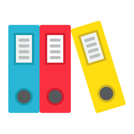 classify: Binders flat icon, business and folder, vector graphics, a colorful solid pattern on a white background, eps 10. Illustration