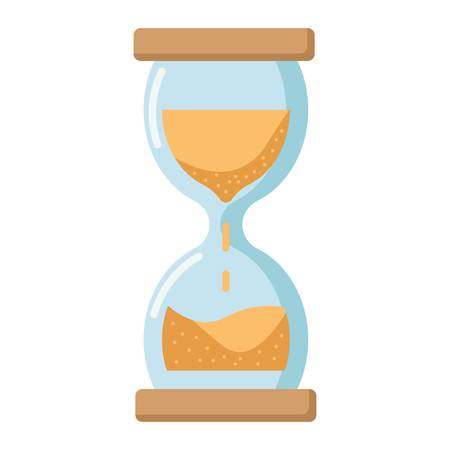 Hourglass flat icon, business and deadline, vector graphics, a colorful solid pattern on a white background, eps 10. Illustration