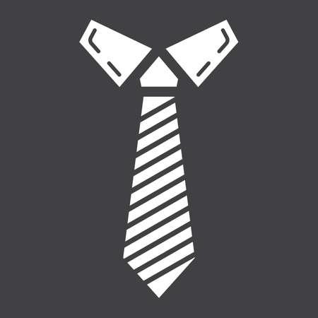 固体のアイコン、ビジネス、ネクタイ、ベクトル グラフィック、eps 10 黒の背景にグリフ柄をネクタイします。 写真素材 - 82188729