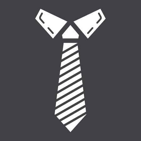 taylor: Tie solid icon, business and necktie, vector graphics, a glyph pattern on a black background, eps 10.